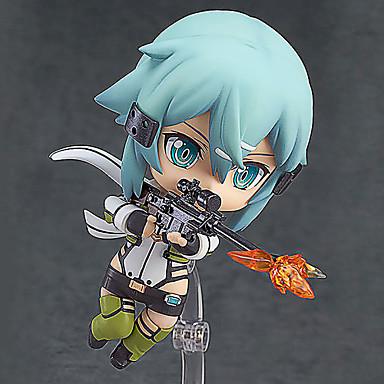 Anime Toimintahahmot Innoittamana Sword Art Online Shino PVC 10cm CM Malli lelut Doll Toy