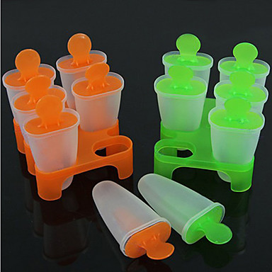 6 Cell Frozen Ice Cream Pop Mold Popsicle Maker Lolly Mould Tray Pan Kitchen DIY