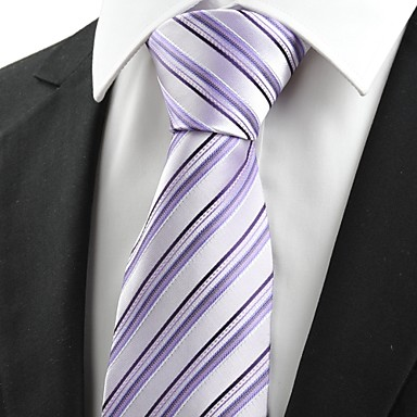 Krawatte(Blau / Lila,Polyester)Gestreift
