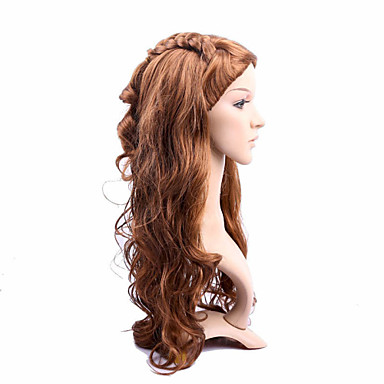 Cabelo Sintético perucas Ondulado Sem Touca Longo