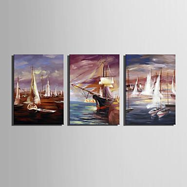 tamanho mini e-casa pintura a óleo vela moderno na mão pura mar desenhar pintura decorativa frameless