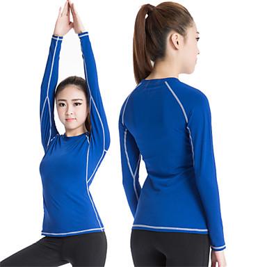 Naisten Yoga Top - Punainen, Vihreä, Sininen Urheilu Classic, Seksikäs, Muoti College-pusero / Kompressiovaatteet / Topit Jooga,