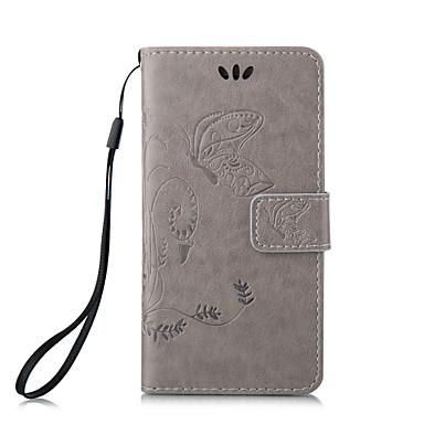 Capinha Para Apple iPhone X iPhone 8 Capinha iPhone 5 Porta-Cartão Carteira Com Suporte Flip Estampada Capa Proteção Completa Borboleta