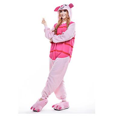 Tier Kigurumi-Pyjamas Herrn Damen Weihnachten Halloween Karneval Silvester Fest / Feiertage Halloween Kostüme Rosa Pyjamas