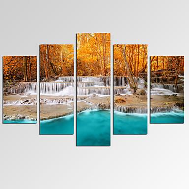 Fantasia Fotografia Patriótico Moderno Romântico Arte Pop Viagem 5 Painéis Horizontal Estampado Decoração de Parede For Decoração para