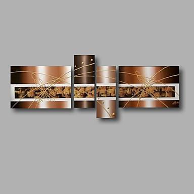 Handgemalte Abstrakt jede Form, Modern Segeltuch Hang-Ölgemälde Haus Dekoration Vier Panele