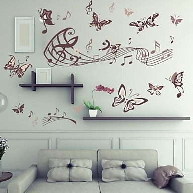 Autocolantes de Parede Decorativos - Etiquetas de parede de animal Paisagem Animais Sala de Estar Quarto Banheiro Cozinha Sala de Jantar