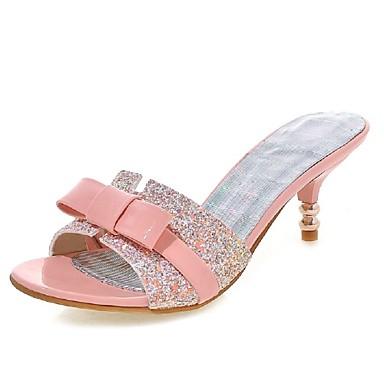 Womens Shoes Low Heel Heels Peep Toe Slippers Sandals Wedding Party Evening