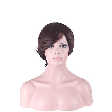 capless multi-boji kratka visoka kvaliteta prirodne ravne kose sintetička perika