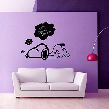 Tiere Menschen Stillleben Romantik Mode Formen Retro Feiertage Cartoon Design Freizeit Fantasie Wand-Sticker Flugzeug-Wand Sticker