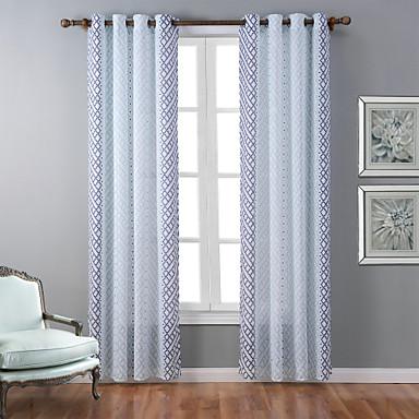 Purjerengas One Panel Window Hoito Moderni, Painettu Geometrinen Makuuhuone Polyesteri materiaali verhot Drapes Kodinsisustus