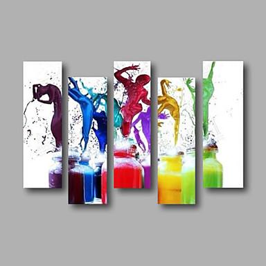 Ručno oslikana SažetakModerna Pet ploha Platno Hang oslikana uljanim bojama For Početna Dekoracija