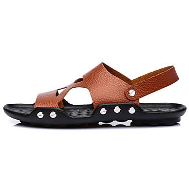 Muške cipele-Sandale-Aktivnosti u prirodi / Ležerne prilike-Koža-Crna / Smeđa / Bijela