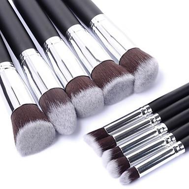 10pcs Makeup børster Profesjonell Børstesett / Rougebørste / Øyenskyggebørste Nylon Børste Bærbar / Reisen / Økovennlig Tre