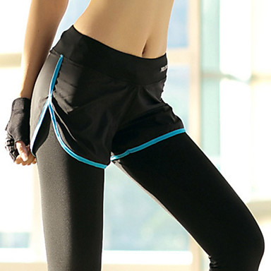 Naisten Juoksutrikoot / Urheilulegginsit - Purppura, Keltainen, Sininen Urheilu Muoti Pants Activewear Nopea kuivuminen, Hengittävä,