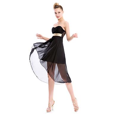Clubwear Einteiler Damen Polyester / Chiffon Mit Bändern und Schleifen Ärmellos
