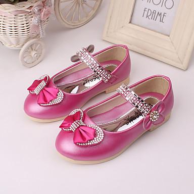 Para Meninas sapatos Couro Primavera Verão Outono Conforto Rasos Para Casamento Social Festas & Noite Pêssego Rosa Azul