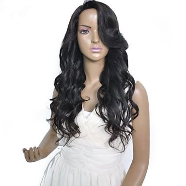 Žene Perike s ljudskom kosom Ljudska kosa Full Lace Lace Front Perika s prednjom čipkom bez ljepila 130% 150% Gustoća Valovita Perika