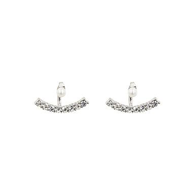 Tropfen-Ohrringe Perle Künstliche Perle Strass Imitation Diamant Aleación Weiß Schmuck 2 Stück