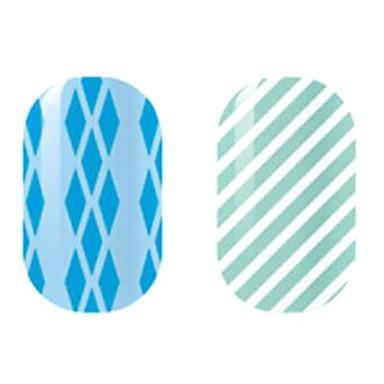 blau / weiß hohle Nagel Aufkleber