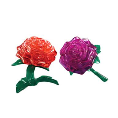 jigsaw zagonetke 3D zagonetke / Crystal Male Građevni blokovi DIY igračke Rose ABS Srebrna Igračka model i građenje