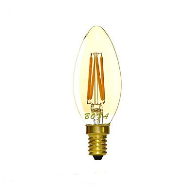 1 db. NO E14 3W 4 COB 200-300 lm Meleg fehér C35 Állítható / Dekoratív LED gyertyaizzók AC 220-240 V