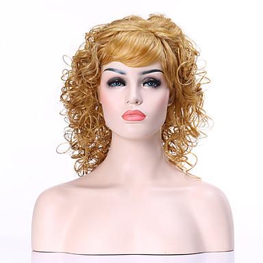 Kvinder Syntetiske parykker Lokkløs Kinky Krøllet Blond costume Parykker