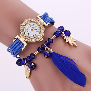 Damen Armband-Uhr Modeuhr Quartz Eulen-Art Leder Band Blume Eule Schwarz Weiß Blau Rot