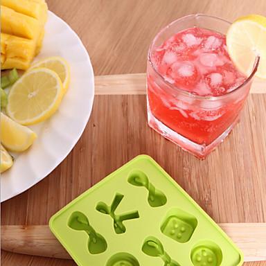 קשת צבע אקראי סריג קרח סריג קרח סיליקון בצורת כפתורי ממתקי DIY