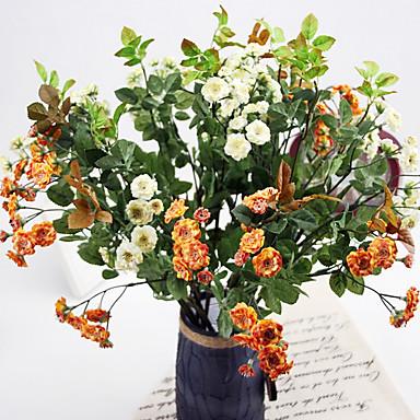 1 Ág Selyem Halványlila Asztali virág Művirágok