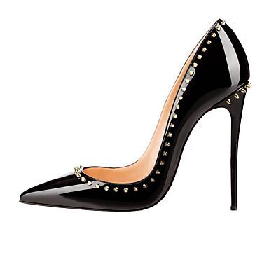 Kadın's Ayakkabı Patentli Deri Yapay Deri Bahar Yaz Temel Topuklu Stiletto Topuk Sivri Uçlu Düğün Günlük Parti ve Gece için Boncuklama