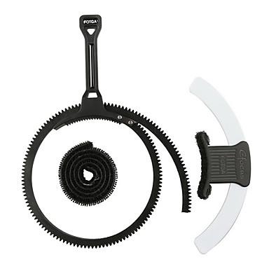 fotga® alavanca efocus zoom ajustável follow foco gear anel cinto de punho + placa de marca branca cinza azul preto para a câmera