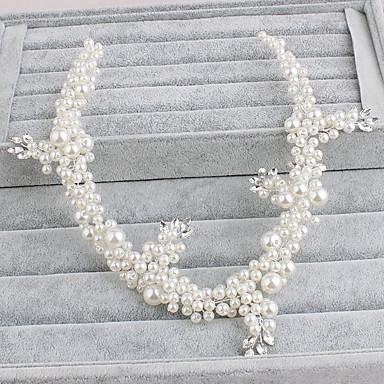 perlehodet kjede headpiece bryllupsfesten elegant feminin stil