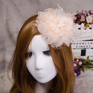 rosa Feder Fascinator Haar Schmuck für Hochzeitsfest