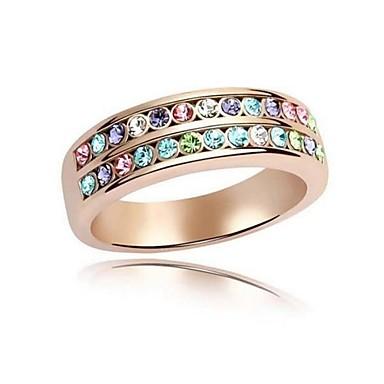 Damen Statement-Ring Weiß Blau Regenbogen Lavendel versilbert Einstellbar Party Modeschmuck