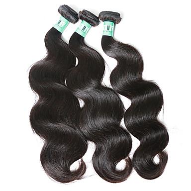 Orta Dalgalı Malezya Saçı Vücut Dalgası İnsan saç örgüleri 3 Parça 0.3