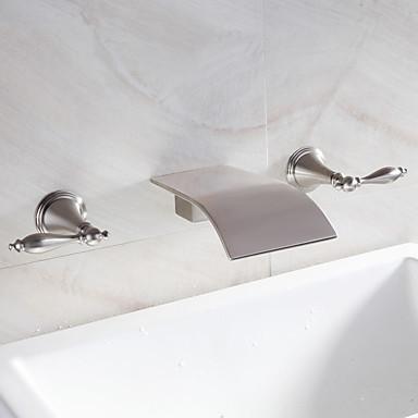 foss bathroom sink tappekran utbredt moderne design tappekran (nikkel finish)