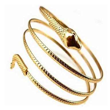 abordables Bracelet-Manchettes Bracelets Manchette Rétro Vintage Soirée Travail Simple Multiple Bracelet Bijoux Dorée Argent pour Soirée