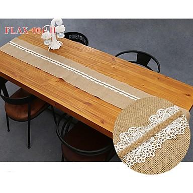 פשתן שולחן מרכז חתיכות-לא מותאם אישית ראנרים לשולחן 1 חתיכה / סט