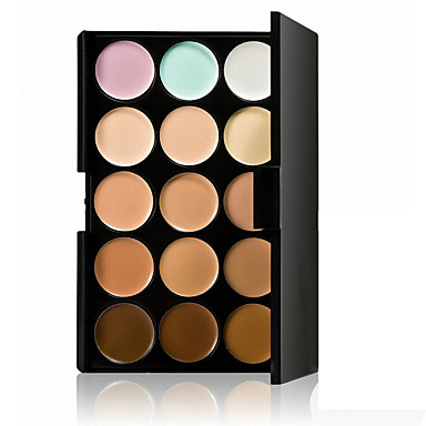 15 Farben Cream Concealer / Kontur Trocken / Nass / Kombination Atmungsaktiv / Weiß machen / Concealer Gesicht China Natürlich Bilden Kosmetikum