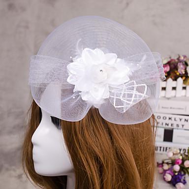 פרח נוצת תכשיטי הרעלה fascinator שיער עבור מסיבת חתונה