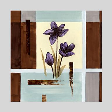 Maalattu Asetelma / Kukkakuvio/KasvitiedeModerni 1 paneeli Kanvas Hang-Painted öljymaalaus For Kodinsisustus