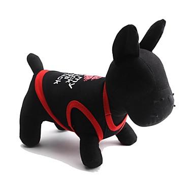 Gato Cachorro Camiseta Roupas para Cães Fashion Lábios Branco Preto Vermelho Ocasiões Especiais Para animais de estimação
