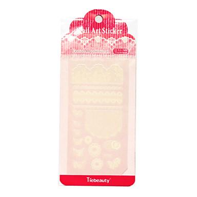תכשיטי המדבקה pvc פרח ציפורן tiebeauty