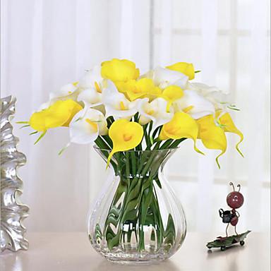 billige Kunstige blomster-Kunstige blomster 10 Gren Bryllupsblomster Calla-lilje Bordblomst