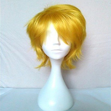 yeni varış sarışın Cosplay sentetik saç peruk kısa kıvırcık doğal animasyonlu peruklar parti peruk peruk