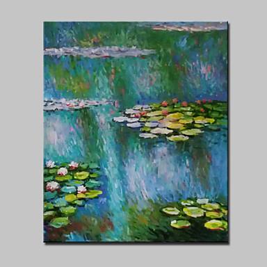 Handgemalte Abstrakt / Landschaft / Blumenmuster/Botanisch / Abstrakte Landschaft / POPKlassisch Ein Panel Leinwand Hang-Ölgemälde For