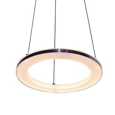 UMEI™ Circular Lumini pandantiv Lumini Ambientale - LED, 90-240V, Alb Cald / Alb, Sursa de lumină LED inclusă / 20-30㎡ / LED Integrat