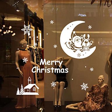 Csendélet Romantika Alakzatok Karácsony Falimatrica Repülőgép matricák Dekoratív falmatricák, Vinil lakberendezési fali matrica Fal