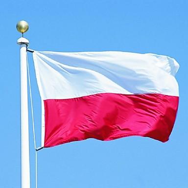 90x150cm Polen Polsk nasjonal banner stort utendørs Polen flagg beste prisen (uten flaggstang)